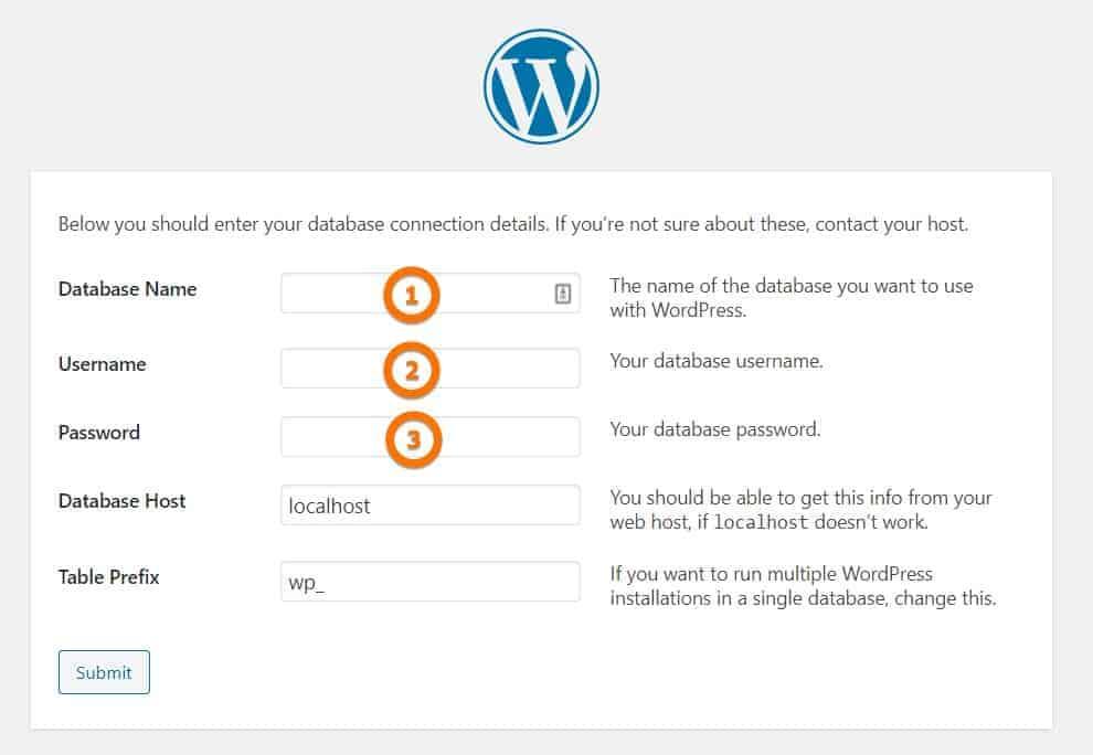 Adding info for wordpress blog