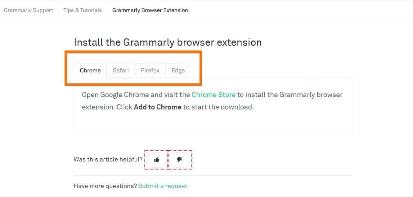 Add on for Firefox, Safari and Edge